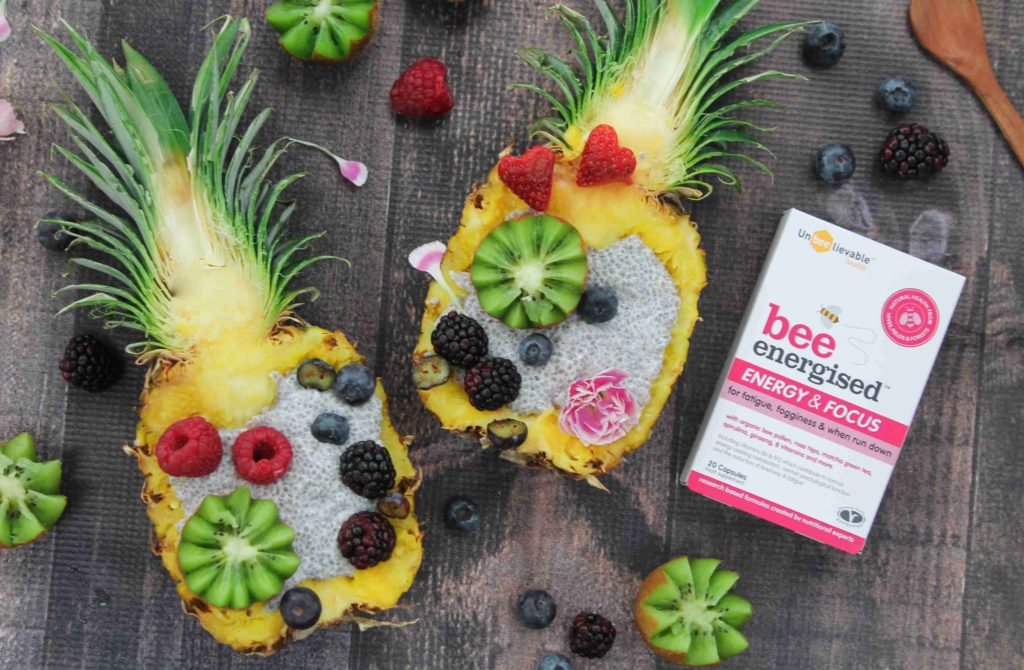 bee energised with bee pollen, matcha, spirulina and more
